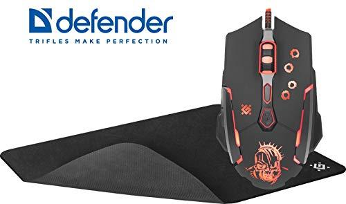 DEFENDER RGB Gaming Maus Killer GM-170L - 3200dpi - Kabel-USB inkl. Mauspad !!!Markenqualität!!!