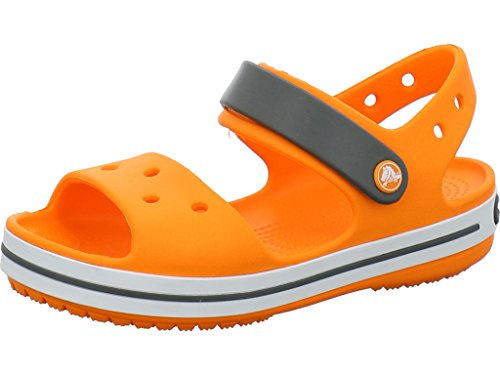 crocs Kinder Sandale Crocband 12856 Blazing Orange/Slate Grey 33-34 -