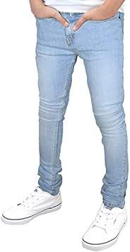 SK-1 Abbigliamento ragazzi/bambini Super Skinny Stretch strappato in difficoltà/Plain sbiadito Jeans