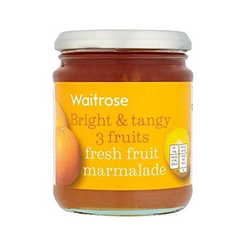3 Fruits Fruits Frais Marmelade Waitrose 340G - Paquet de 2