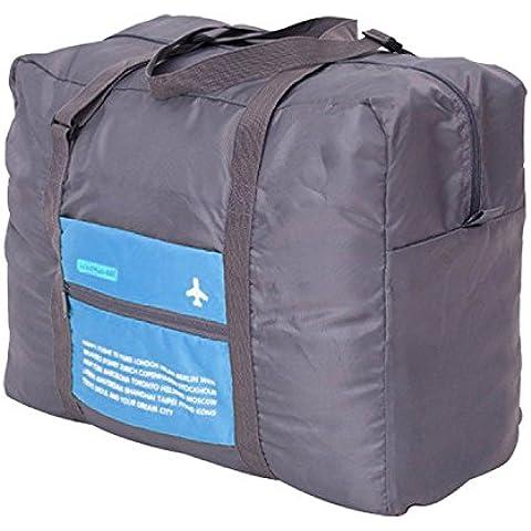 Gleading bolsa de viaje plegable de asas de la maleta del equipaje del bolso (Azul)