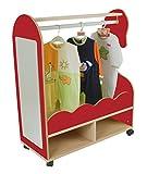 Mobeduc Mueble para Disfraces Caballito, Haya, Haya y Rojo Cereza, 40x90x109 cm
