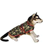Sage Square Dog Winter Ultra Warm Camouflage Army Coat Thicker Fleece Dog Hoodie Vest for Cold Weather (Size: Small Medium) (14 Inches)