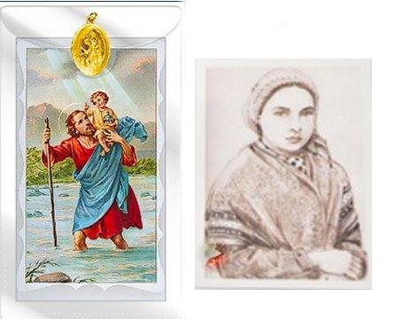 Catholic Gift Shop Ltd ST Christopher Medaille mit Gebet Parabel & Lourdes Gebet Karte