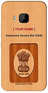 """Aakrti Mobile Back cover with your Dept: Sashastra Seema Bal (SSB).Let's Speak your ID in unique way With """" Your Name """" Printed on your Smart Phone : HTC X-PLUS"""