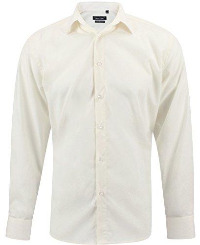 Enzo camicia uomo classica giallo regular fit confortevole e elegante con maniche lunghe taglia xxl