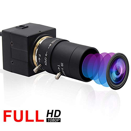Svpro USB-Webkamera 5-50 mm Manueller Zoom Varifocal 2MP MJPEG 120fps@ 640 × 480, 60fps@ 1280 × 720,30fps@ 1920 × 1080 Mini Box Cmos USB-Kamera HD 1080P Mjpeg Usb