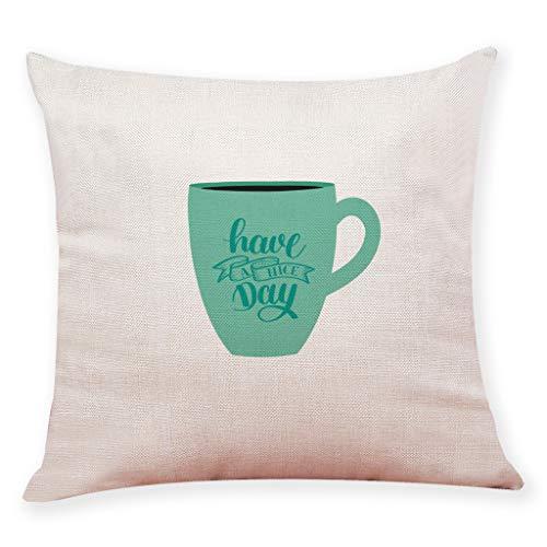 Winkey Cafe Home Decor Kissenbezug haben einen schönen Tag werfen Tasse Kissenbezüge