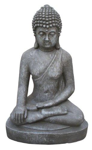 Stone-Lite Figura Buda Sentado Bhumisparsha-mudra
