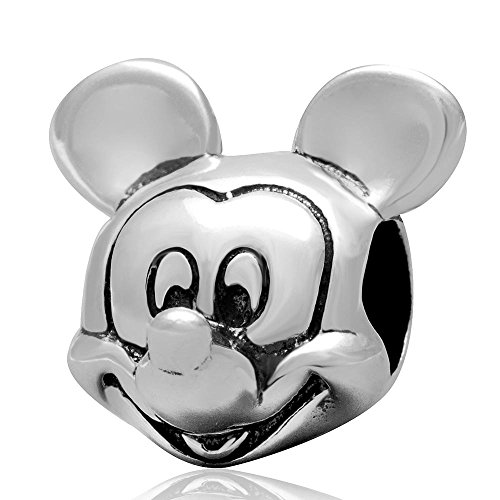 Image of Mickey Mouse Head - Sterling Silver Charm Bead - Spanglebead