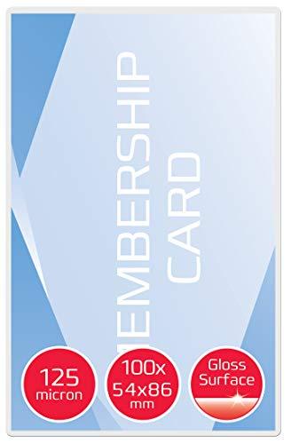 GBC Buste Pouch Card Lucide per Plastificazione, 54 x 86 mm 2 x 125 Micron, Confezione da 100, 3740300