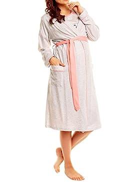 Happy Mama Donna Prémaman camicia da notte vestaglia set allattamento. 385p