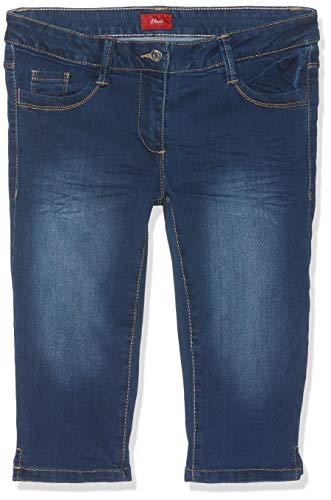 s.Oliver Mädchen 73.903.72.2023 Hose, Blau (Blue Denim Stretch 56z5), 164 (Herstellergröße: 164/REG) (Capri-jeans Mädchen)