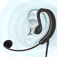 Auriculares con cable y gancho para la oreja, los auriculares USB para computadora de escritorio para computadora portátil admiten Mute de una tecla para Skype/QQ/MSN, auriculares para computadora