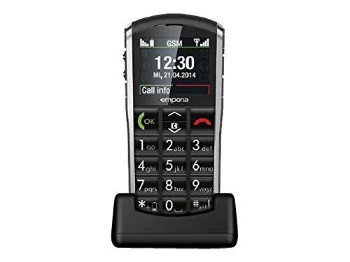 emporia talk comfort Emporia PURE, V25, Großtastenhandy, schwarz 2'' TFT-Display, Notruffunktion,Bluetooth 3.0, FM Radio, geeignet für Schwerhörige, ECOModus, Tischladestation, emporiaCONNECTOR