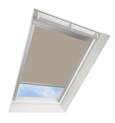 Tende avvolgibili da tetto darkona ® per le finestre da tetto velux - tenda avvolgibile oscurante - molti colori / molte dimensioni (ck02, beige) - telaio in alluminio argento
