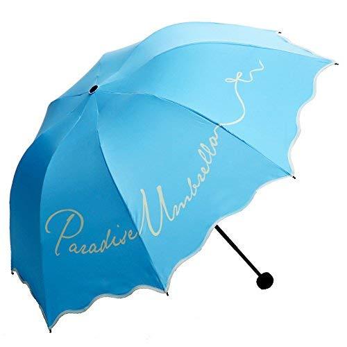 Crystallly Paraguas Parasol Anti UV Telescopio Impermeable