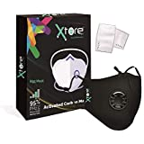 Xtore® N95 / PM2.5 Ultra Comfortable Anti Pollution Mask | FDA CE Certified | Premium Quality | Washable - (Pack of 1 mask, 2 filters)