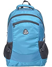Explorer Light Weight Nylon Water Resistant School/College/Backpack Bag With 3 Years Warranty Color Sky Blue