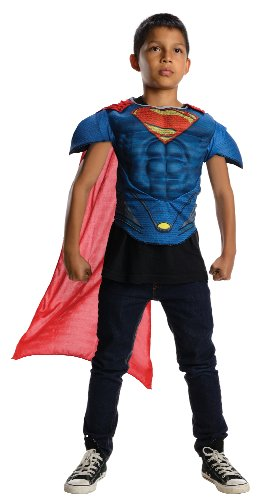 Superman Man Of Steel Muscle Chest Costume Top Child One Size Fits Most