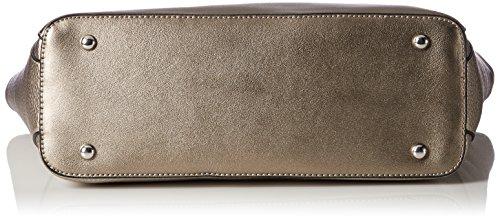 L.CREDI Damen Toronto Schultertasche, 12x32x45 cm Gold (Bronze)