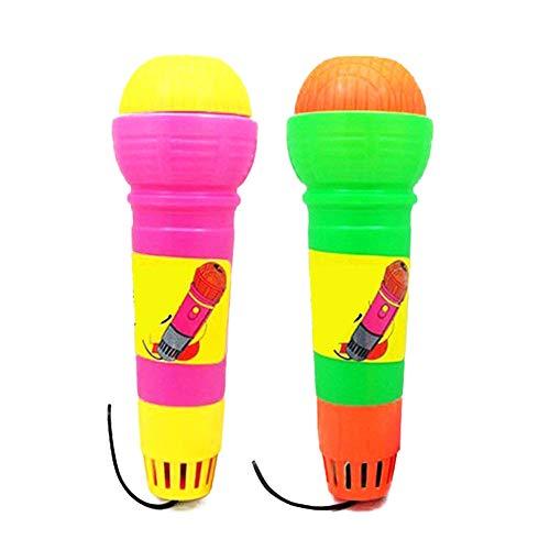 Homiki 2ST Lustige Echo Mikrofone Durable Kinder Pretend Spielzeug aus Kunststoff Echo Mic Practical Magic Mic Spielzeug für Geburtstag Graduierung zufällige Farbe