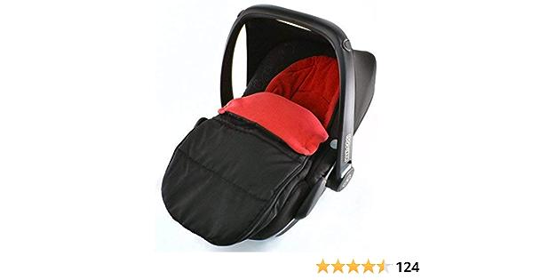 Universal Fußsack Für Babyschale Maxi Cosi Pepple Fire Rot Baby