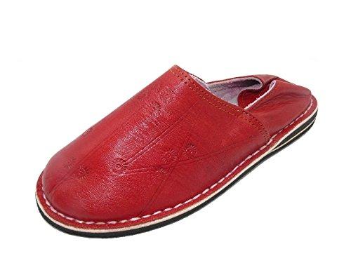 Orientalische Leder Schuhe Pantoffeln Hausschuh Slipper - Herren, Schuhgrösse:44