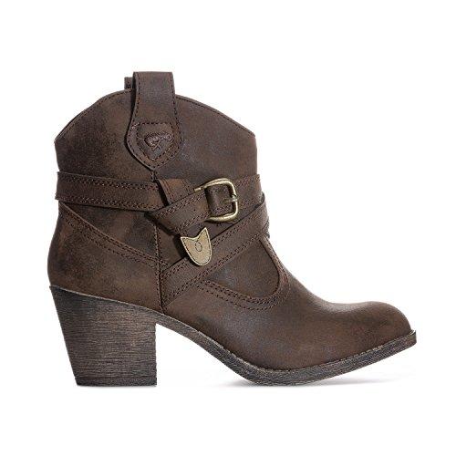 Rocket Dog Women's Satire Biker Boots, Brown (Brown), 5 UK 38 EU