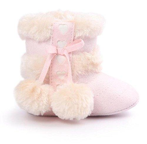 Covermason Baby Jungen Mädchen Weiche Sohle Schneestiefel Krippe Schuhe Kleinkind Stiefel Rosa 2
