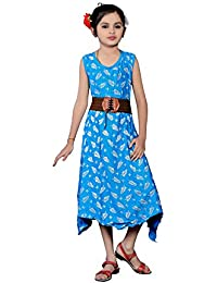 White World Princess Girls Birthday Party wear Stitched Wastern kurti