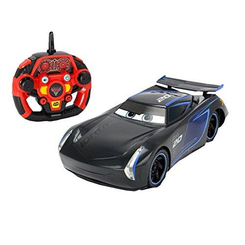"Dickie Toys 203086007 - \""Cars 3 Ultimate Jackson Storm\"", RC Fahrzeug, ferngesteuertes Auto mit vielen Funktionen, 1:16, 26cm"