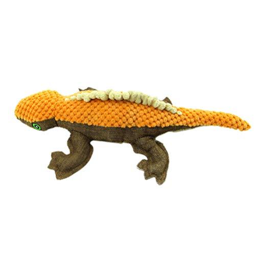 squarex Juguete de Masticar para Mascotas, Juguete Interactivo de Felpa para Perro, Juguete para modelar el Lagarto