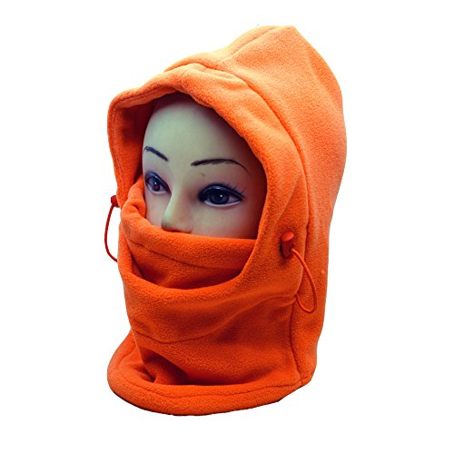 Image of Ezyoutdoor Windproof Bucket Hat New Winter Thermal FLEECE Swat Ski Face Mask Hat for Outdoor Sports Hiking Camping Travel Riding Backpacking Walking Survival (Orange)