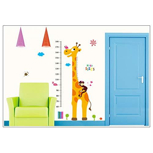 Höhentabelle kinder Sticker mural Déco Hauteur Mesure Girafe Amovible Carte Affiche Murale Papier Peint A-la-carte-schalen