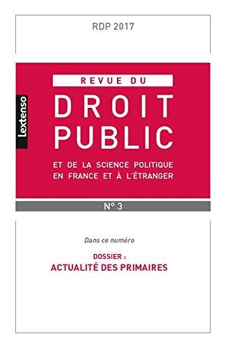 Revue du Droit Public et de la Science Politique en France et a l'tranger N 3-2 par Collectif