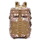 Outdoor Tactical Military Rucksack Große Jagd Wasserdichte Assault Pack 40L Tasche für Camping Wandern,D