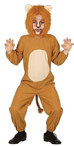 Kinder Jungen Mädchen Löwe Dschungel Wild Safari Tier Kostüm Kleid Outfit 3-12 Jahre - Braun, 7-9 Years (Für Safari-outfit Kinder)