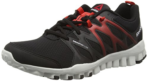 Reebok Realflex Train 4.0, Scarpe da Fitness Uomo Nero (Black/Motor Red/Skull Grey)