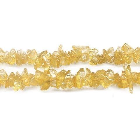Long Strand Of 240+ Golden Citrine 5-8mm Chip Beads -