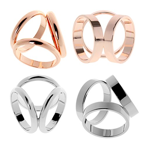 Baoblaze Mode Frauen Schal Ring Seidenschal Clip Schnalle Dia Accessoires