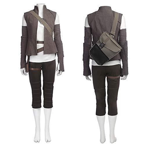 Rey Wars Details Star Kostüm - nihiug Star Wars 8 Der letzte Jedi-Krieger Film Rey Rey Das selbe Cosplay-Halloween-Kostüm voller Action,Grey-L(168to172)