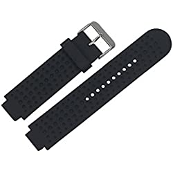 Garmin Replacement Watch Band, Fulltime(TM) Soft Silicone Replacement Watch Strap Band For Garmin Forerunner 620/630/735 Watch with Lugs Adapters