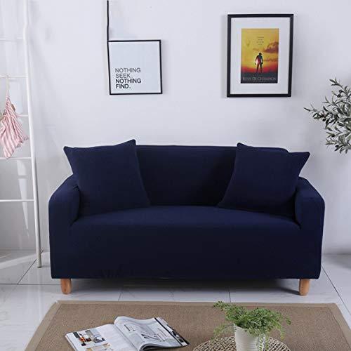 Will Spandex Stretch Stoff Sofa Set All-Inclusive Universal Sofa Abdeckung Alle Abdeckung Handtuch Europäischen Sommer Leder Sofakissen Slip,Navy,Fourseat -