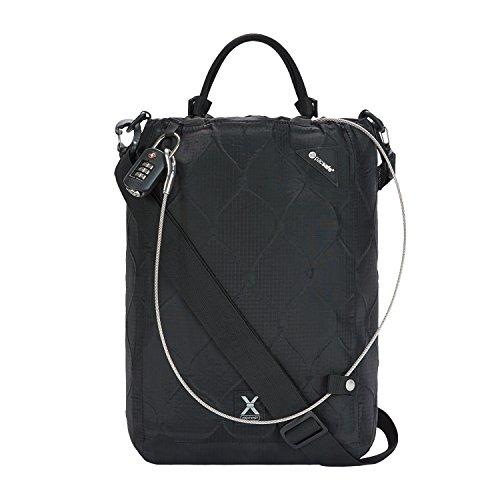 Pacsafe Travelsafe X15 - Mobiler Safe mit TSA-Zahlen Schloß, Trage-Tasche mit Anti-Diebstahl Technologie, 25 Liter, Schwarz/Black