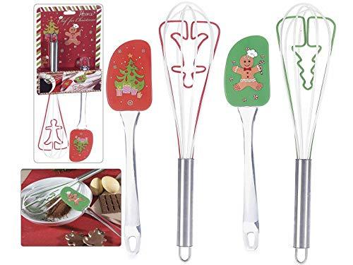 Ideapiu 4 Großhandel Keramik Weihnachtsbecher mit Löffel Misure:Ø 9 cm x 10,5 H Con cucchiaino: 13 H - Capacità: 390 ml