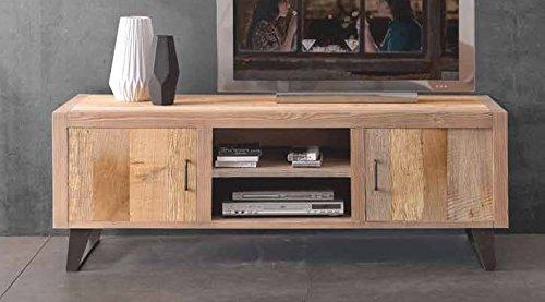Legno&Design Porte TV TV Meuble Salon Bois Massif aulne 2 Portes
