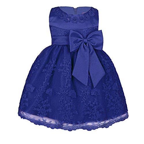 YiZYiF Baby Mädchen Kleid Prinzessin Hochzeits Taufkleid Blumenmädchen Kleider Party Festlich Kleid Festzug Kleidung Kleinkind (86-92 (Herstellergröße 18M), Blau)