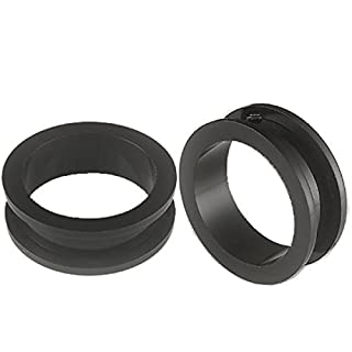28mm Black Acrylic Flesh Tunnels Ear Plugs ABEK Stretching Expanders Body Piercing Jewellery 2pcs