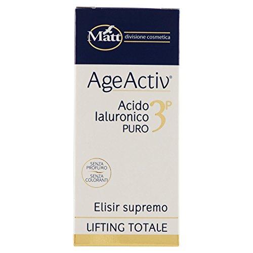 Matt - AgeActiv Acido Ialuronico Puro 3P - Siero Rigenerante Antirughe per Pelle del Viso - 30 ml
